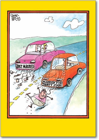 Married Cars Anniversary Card - Sour Sentiments   - 1