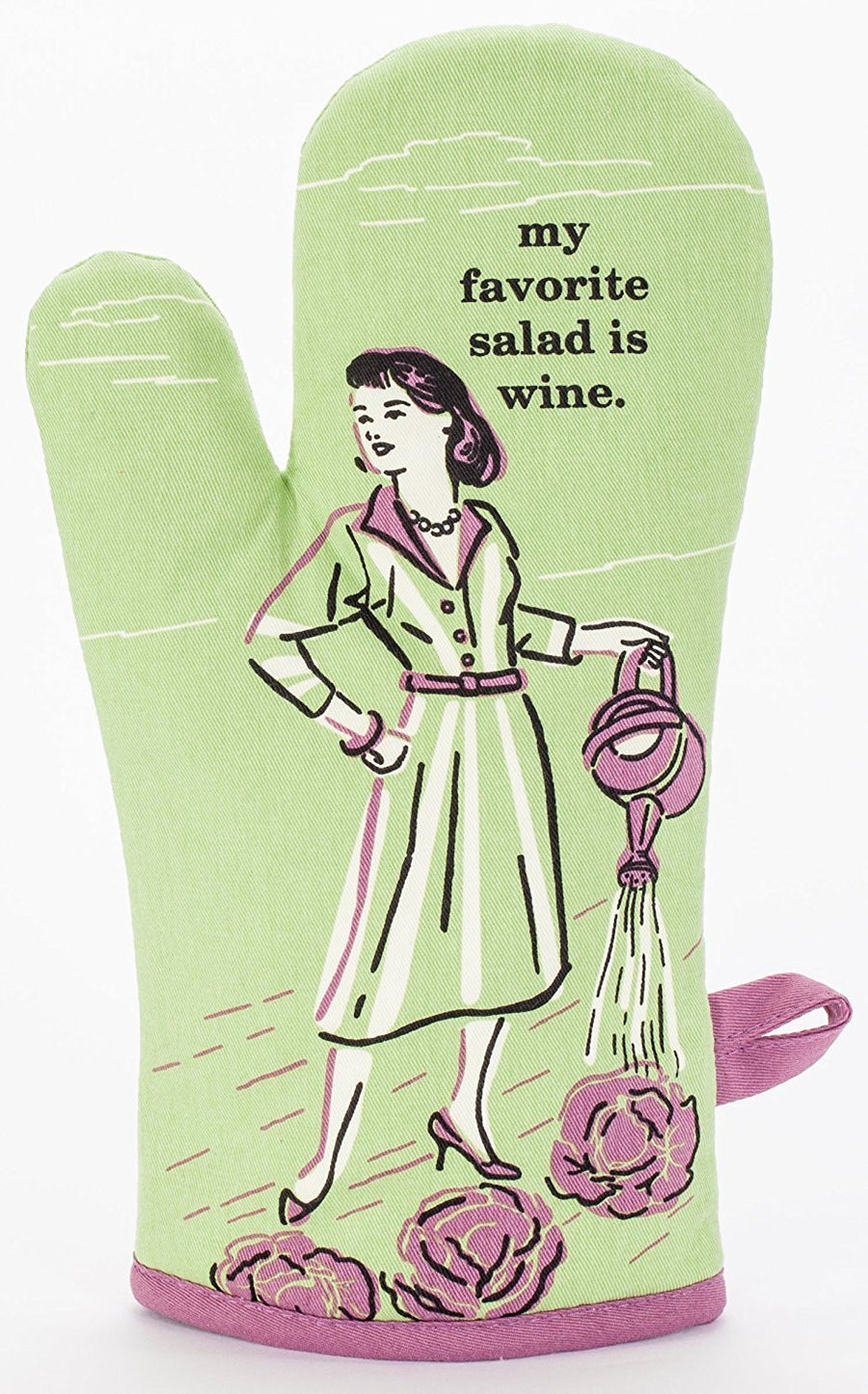 My Favorite Salad Is Wine Oven Mitt Front Pic