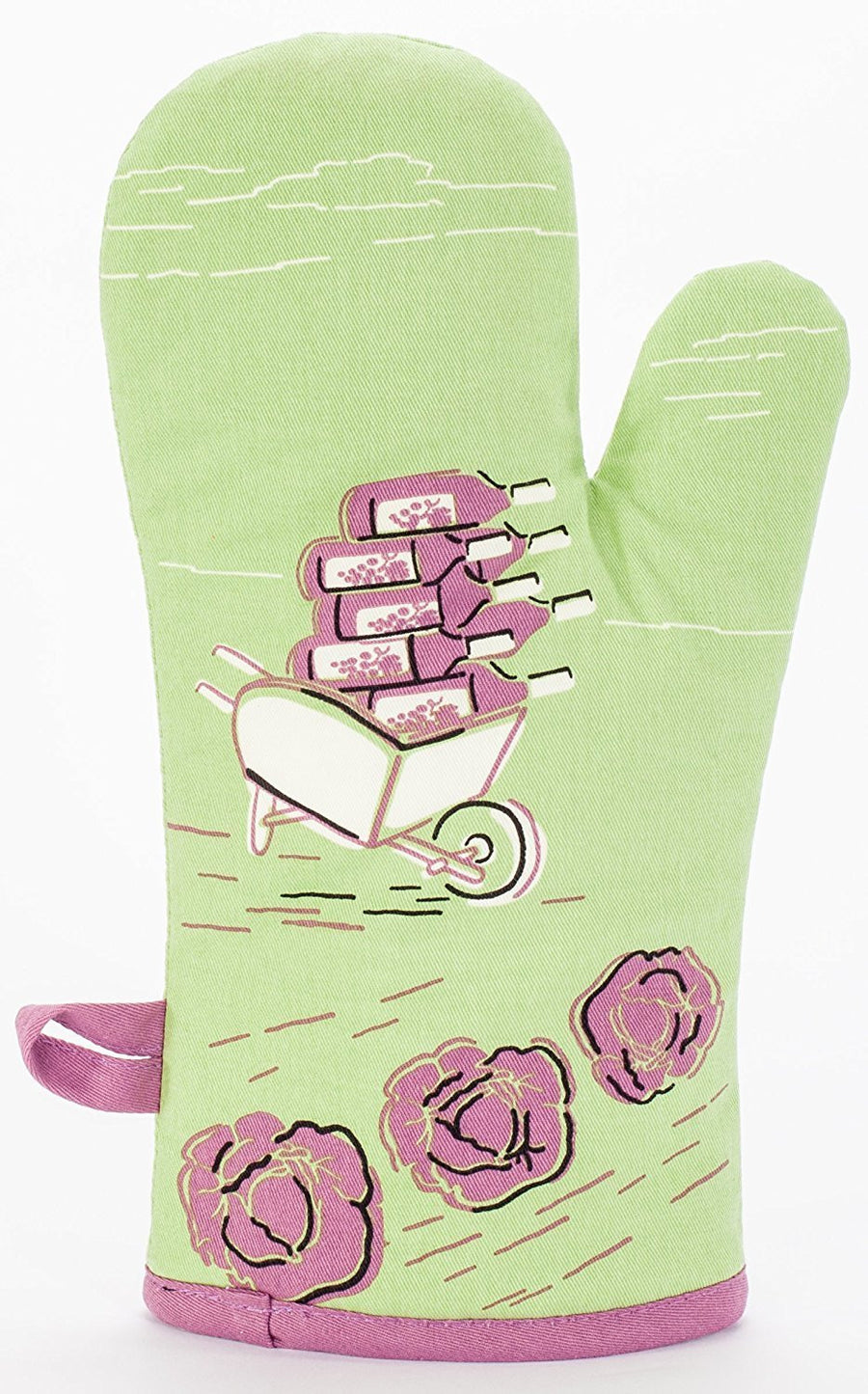 My Favorite Salad Is Wine Oven Mitt Back Pic
