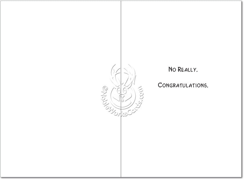 No Seriously Wedding Card - Sour Sentiments   - 2