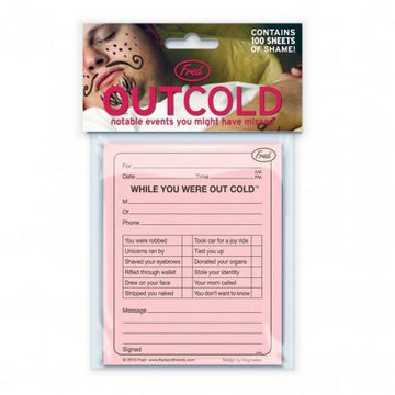 Out Cold Memo Pad In Package