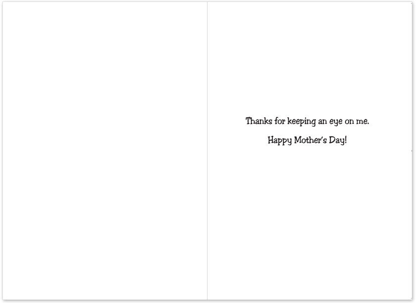 Poke Your Eye Out Mother's Day Card