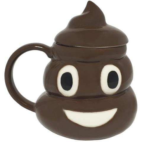 Poop Emoji Coffee Mug With Top