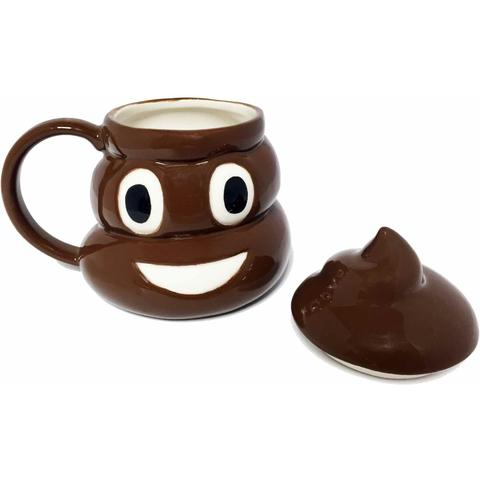 Poop Emoji Coffee Mug Without Top