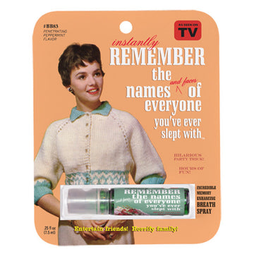 Remember The Names Breath Spray - Sour Sentiments