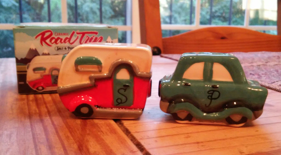 Road Trip Salt And Pepper Set On Kitchen Table