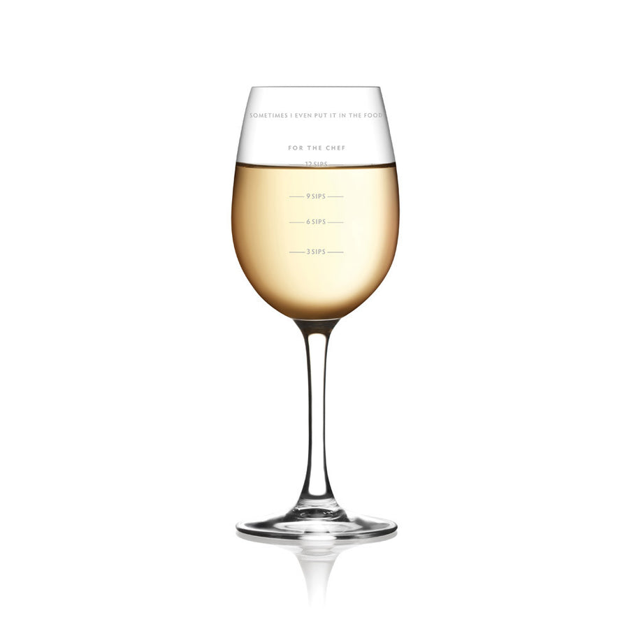Sauced Measuring Wine Glass - Sour Sentiments   - 1
