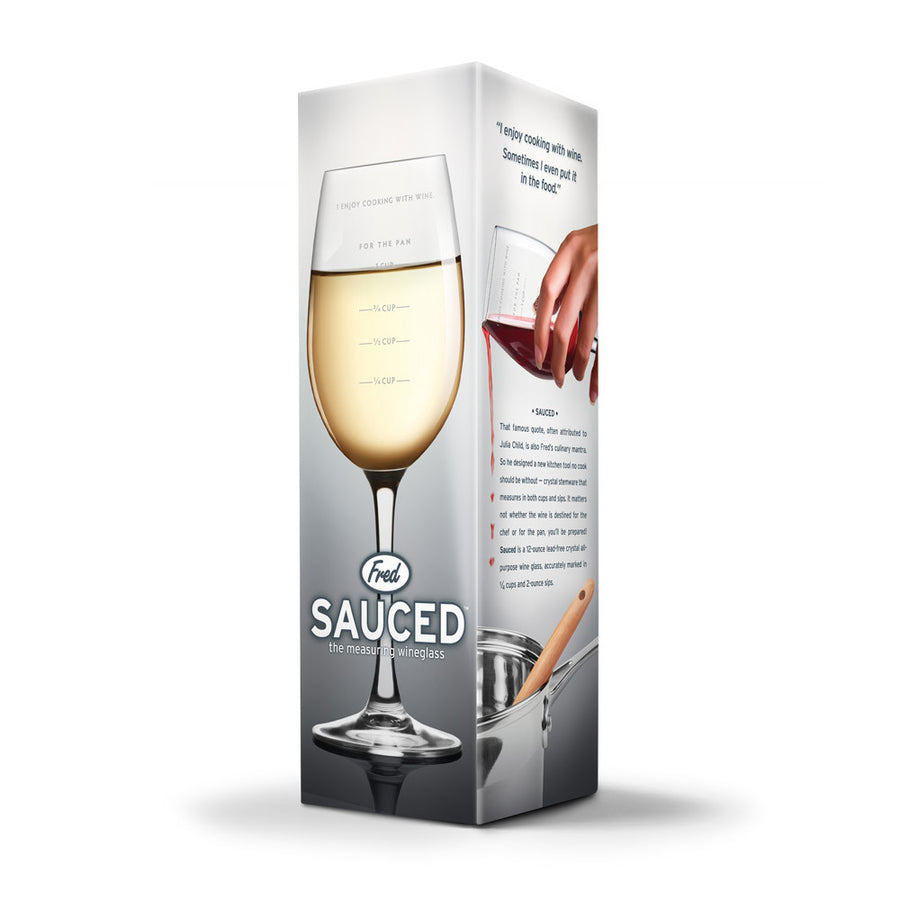 Sauced Measuring Wine Glass - Sour Sentiments   - 3