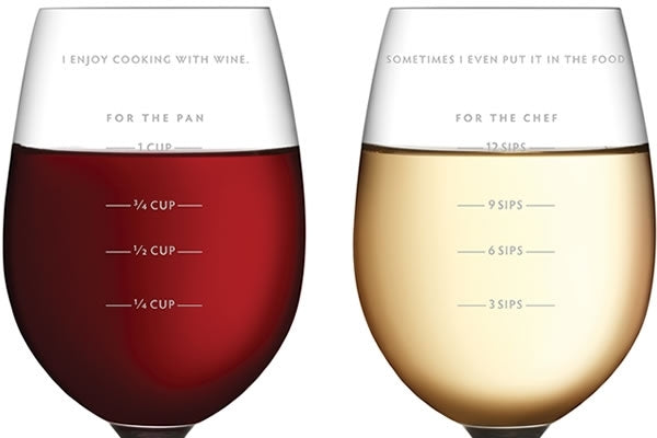 Sauced Measuring Wine Glass