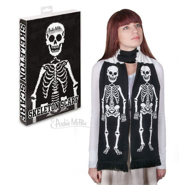 Skeleton Scarf with Model