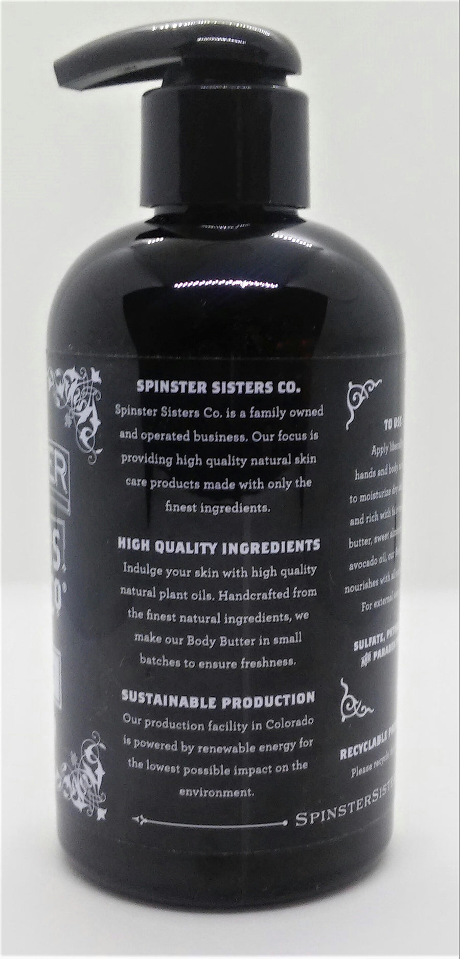Spinster Sisters Body Butter Rosemary Mint Back View