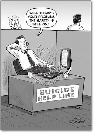 Suicide Help Birthday Card - Sour Sentiments   - 1