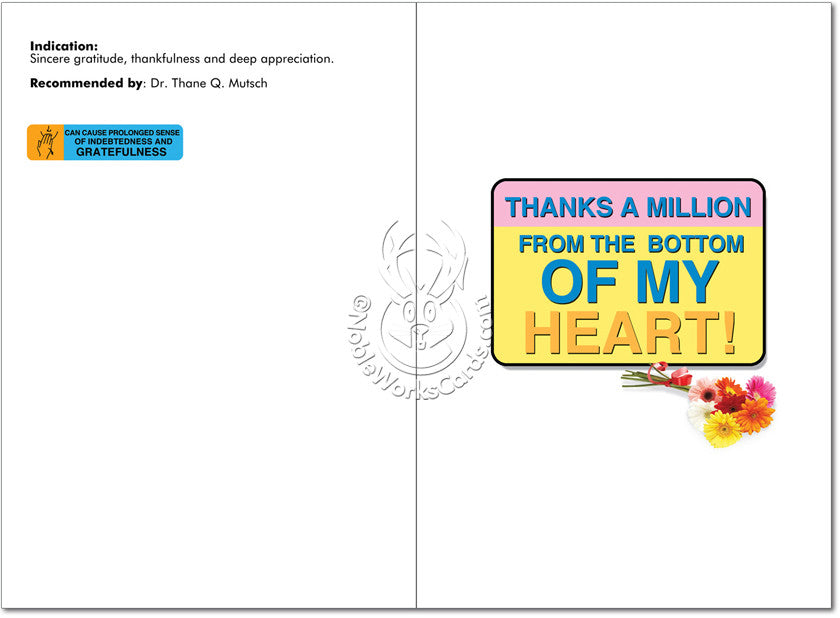 Tanxamill Thank You Card - Sour Sentiments   - 2