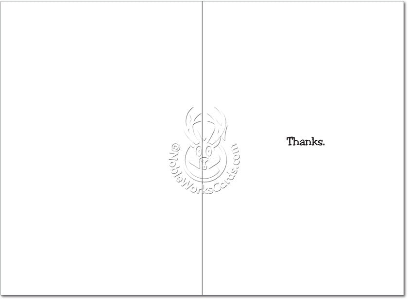 Thanks Dog Thank You Card - Sour Sentiments   - 2