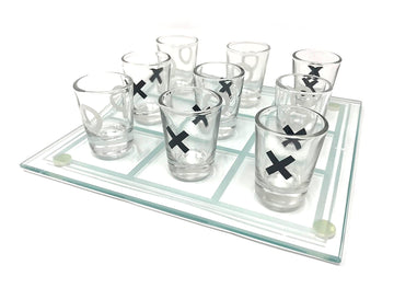 Tic Tac Toe Shot Glass Board Game