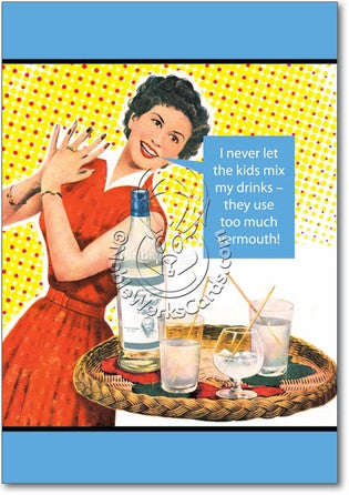 Too Much Vermouth Birthday Card - Sour Sentiments   - 1
