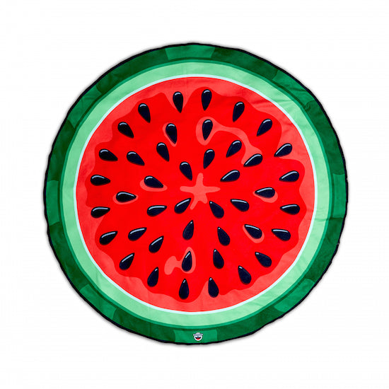 Watermelon Beach Blanket On White Background