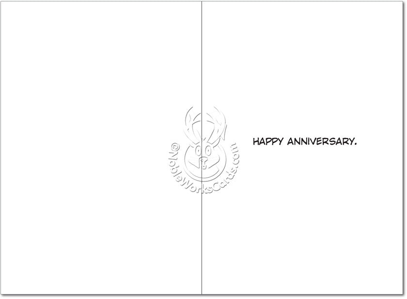 Wedding Cake Happy Annivesary Card - Sour Sentiments   - 2