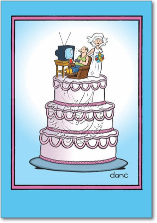 Wedding Cake Happy Annivesary Card - Sour Sentiments   - 1