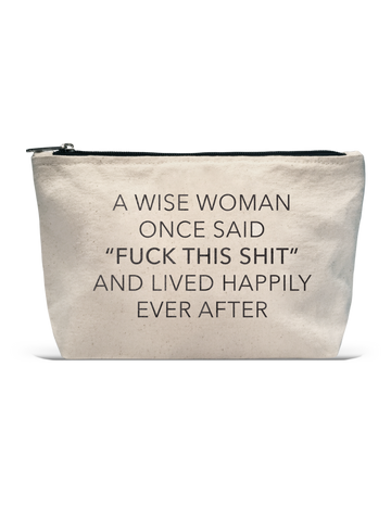 A Wise Woman Cosmetic Pouch