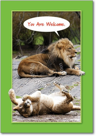 You Are Welcome Thank You Card - Sour Sentiments   - 1