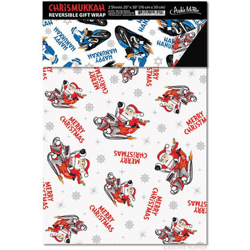 Chrismukkah Reversible Gift Wrap - Sour Sentiments