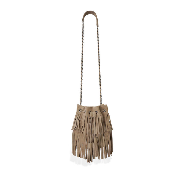 Sand Fringe ANAIS | bucket bag