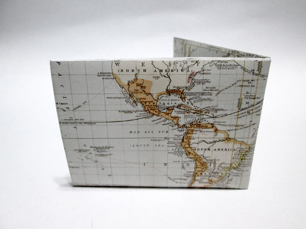 Map recycled Paper Wallet