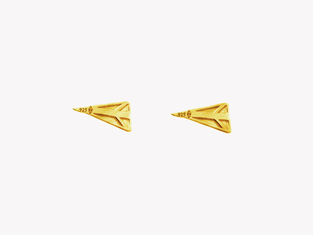 Airplane gold studs