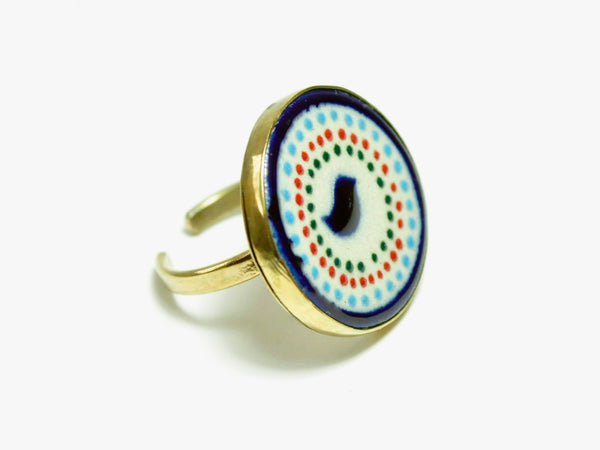 Birds Ring | Talavera adjustable Ring