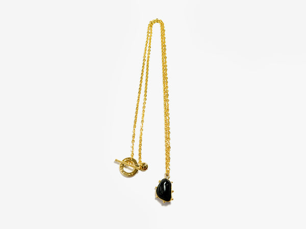 Black POWER stone Necklace