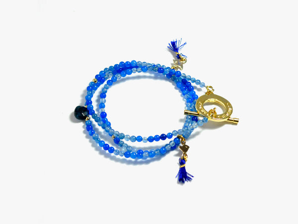 Blue INKA | convertible necklace-bracelet