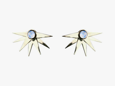 Explosion Solar Moonstone earrings
