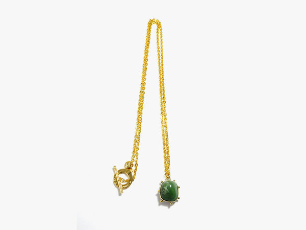Green POWER stone Necklace