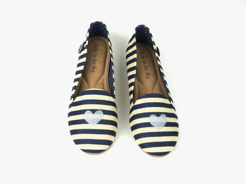 Laila | Striped Vegan Loafer