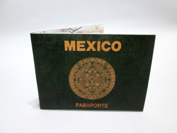 Mexican Passport print recycled Paper Wallet
