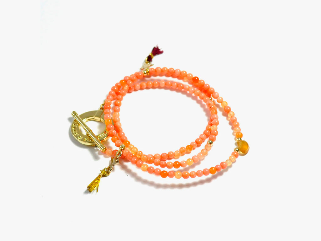 Peach INKA necklace