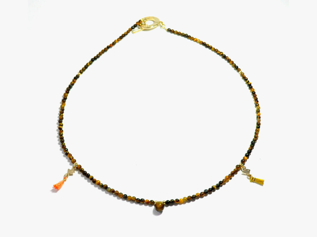 Tiger eye INKA necklace