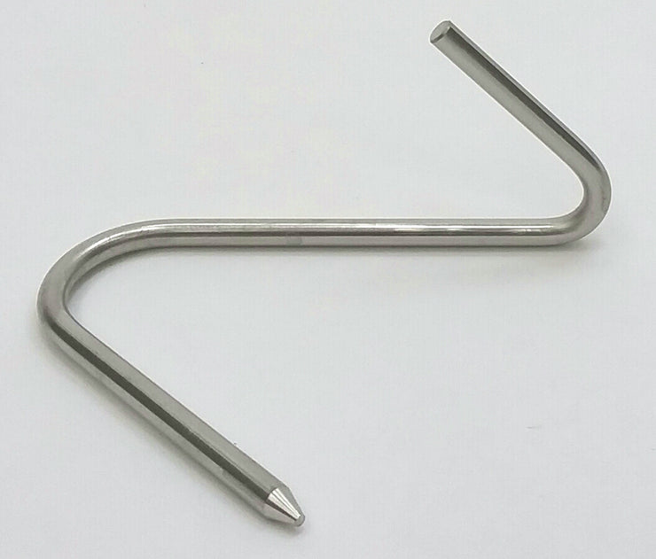 Pack of 6 Stainless Steel Meat Hooks
