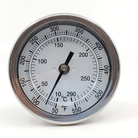"Stainless Steel 3"" Screw In Thermometer"