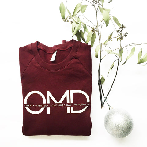 OMD 2017 Burgundy Fleece Pullovers