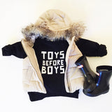 'Toys Before Boys' Collection