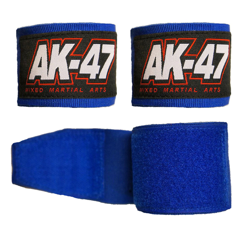AK-47 PRO Kids Boxing Hand Wraps Blue