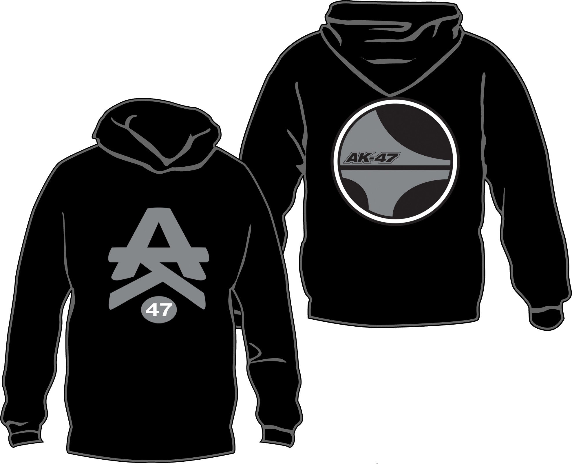 AK-47 Silver and Black Oakland Edition Hoodie (LIMITED EDITION)