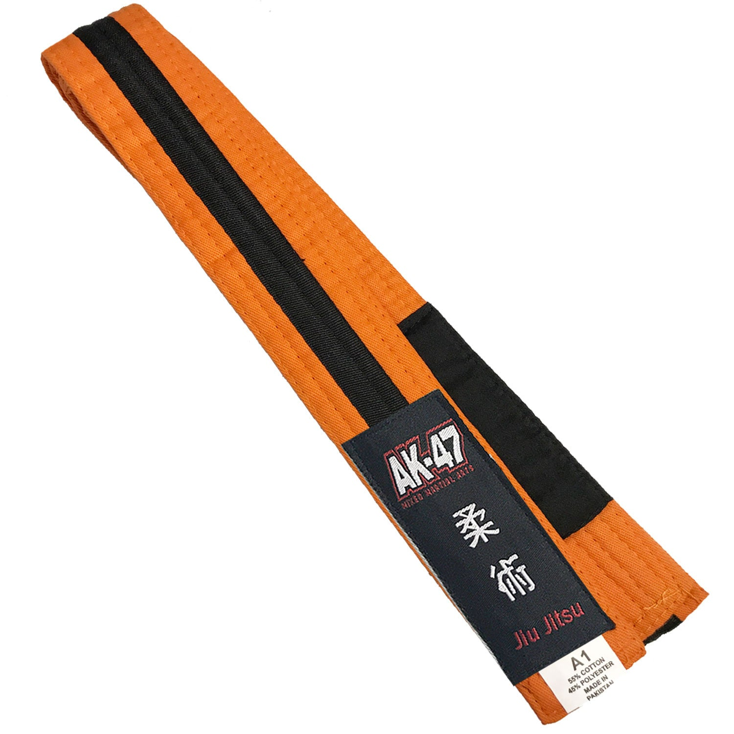 AK-47 Kids Jiu Jitsu Orange Belt w Black Stripe