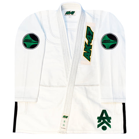 G5 BJJ Uniform White & Green
