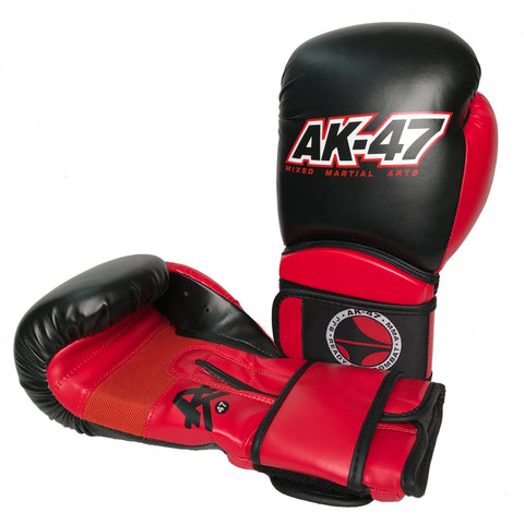 Matrix Boxing Gloves Vinyl Black & Red