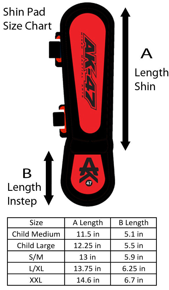 Matrix Shin Pad Black & Red