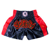 AK-47 Muay Thai Shorts Black and Red