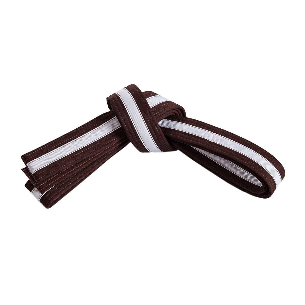 Brown Belt with White Stripe